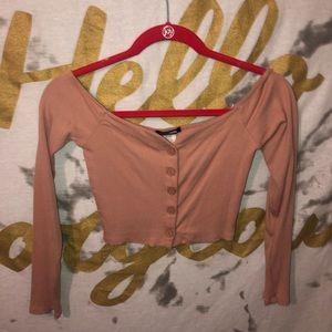 Fashion Nova Pink, Off-The-Shoulder, Crop Top🌸
